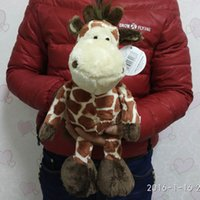 Wholesale Nici Giraffe - Wholesale- Free shipping 35cm=13.8inch Wild Friends Jungle NICI Giraffe Stuffed Animals Soft Toys Plush Doll For Girl Friend Children gift
