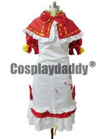 vocaloid miku cosplay vestido al por mayor-Vocaloid 2 Cosplay Project Diva Hatsune Miku Vestido rojo H008