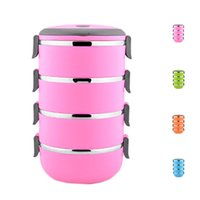 Wholesale Metal Lunch Boxes - S5Q Multilayer Stainless Steel Circular Thermal Lunch Box Bento Storage Mess Tin AAAGGU