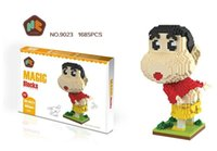 Wholesale Shin Chan Action Figure - Action & Toy Figures Big Size Diy Crayon Shin-chan Models Micro Diamond Building Blocks Minute Brick Educational Toy For Kid.