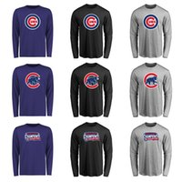 Wholesale Women Shirts Cheap Free Shipping - Cheap New Men and Women Chicago Cubs Fanatics Branded Royal Big & Tall Primary Logo Long Sleeve T-Shirt Free shipping
