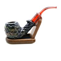 Wholesale Sexy Hot China - 1PC Hot Sales Sexy Retro Wooden Resin Smoking Tobacco Pipe High Quality Handmade Refined China Smoking Tobacco Cigaretee Cigar Pipe
