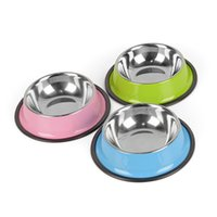 Wholesale Bowl Feeders Stainless - 3 Colors Stainless Steel Dog Bowls,Lovely Pet Food Water Drink Dishes Feeder For Cat Puppy Dog S M L