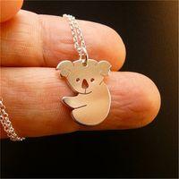 Wholesale Cute Koala Bears - Hot Sale Cute animal necklace jewelry wholesale. Cute koala bear necklace. Tropical animal necklace. Hot to send friends gifts