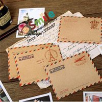 Wholesale Small Invitations Card - Wholesale- 10pcs lot Creative Vintage MINI Envelope Small Card Envelope Lovely Retro Stationery Scrapbooking Supplies Party Invitation