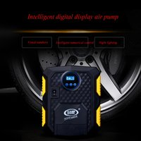 Nova chegada Digital Display Auto Auto pneu Inflator 12V Electric Car <b>Air Compressor</b> Bomba LED Light Digital Inflável Bomba rápida inflável