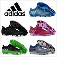Wholesale Shipping Men Boots - 2017 Adidas Shoes Messi 16+ Pureagility FG AG S76488 Cheap Men Soccer Cleats Top Quality New Soccer Shoes Cheap Boots Free Shipping