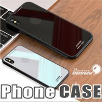 Wholesale Note Charge Case - Soft TPU Edge Anti-strength Tempered Glass Panel Back Support Wireless Charging Hard Cover Case for iPhone X Iphone 6 7 8 Note 8 cases