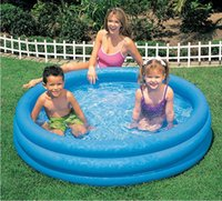 Wholesale Intex Inflatable Child - Wholesale- INTEX-58426 circular inflatable pool inflatable pool Children bathtub ocean ball pool of high-quality 147 * 33cm