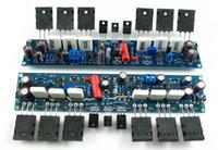 Wholesale Diy Amplifier Channel - Freeshipping LJM L10 Dual Channel (2pcs) Amplifier Boards Complete 300W+300W Class AB 4R Power Amp diy amplifier kit