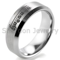 unique black weddings songs - SHARDON Beveled Tungsten Carbide comfort fit black lasered Zelda Song of Time and Bit Hearts Ring for Men Outdoor Wedding Bands