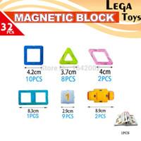 Wholesale Construction Blocks Set - toys for 32PCS Mini Magnetic Designer Construction set Enlighten Bricks Magnetic Model & building blocks Educational toys for children