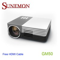Wholesale video projects - Wholesale-Free shipping original AAO GM50 mini WIFI Projector Full HD 1080P Home theater projecting camera LED video home Multimedia uc40