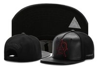 Wholesale Snapback Horns - Men Solid Color Ball Hats Horn Snapback Caps Punk Style Hip-hop headwear Spike Studs Hats Rivet CapAdjustable Baseball Cap