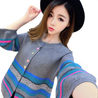 Wholesale Long Sweater Coat Sales - Wholesale- 2016 Hot Sales New Sweaters women Wool Short Cardigan Cashmere loose Sweater for Female Outerwear Thicken Coat Free Shipping
