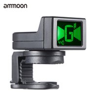 Wholesale Wholesale Electric Guitar Tuner - wholesale ammoon AT-08 Mini Digital Guitar Tuner LCD Clip-on Tuner for Acoustic Electric Guitar Bass Violin Ukulele Chromatic