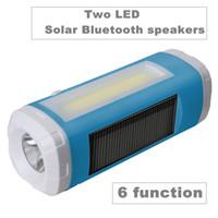 Wholesale Solar Bike Head Lights - Multifunction Bike Lights Two LED Bluetooth speaker FM Radio TF card Solar energy Charge Tool