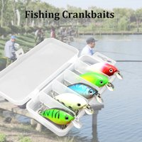 Wholesale Crank Boxes Wholesale - 5pcs Fishing Lures Hard Baits Crank Baits Crankbaits in Storage Box Y3462
