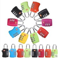Wholesale Tsa Digit Padlock - Customs Luggage Padlock TSA335 TSA338 Resettable 3 Digit Combination Padlock Suitcase Travel Lock TSA Locks CCA7007 500pcs