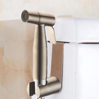 Wholesale Kit For Bathroom - Bidet Spray For Toilet Bidet Fixtures Douche Kit Shatta Copper Valve Bathroom Bidets Sprayer Chrome Finish Bidet Faucet