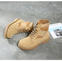 Wholesale Brand Shoes Yellow Boots Fashion Men Women Boots Leather Martin Boots Work Boot Hiking Shoes Plus velvet Boot Outdoor Work Boot