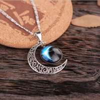 XS Glass Alloy Silver Plated Necklace for Women Estrelas Moon Time Diamond Necklace Pendant Wholesale