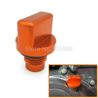 Wholesale Magnetic Oil Drain Plug - Factory new Motorcycle CNC Orange Aluminum Engine Magnetic Oil Drain Plug For KTM DUKE 125 200 390