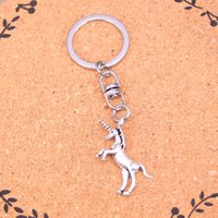 Wholesale Wholesale Metal Trinket - Fashion unicorn horse Keychain For Men Trinket Portachiavi Car Keyring Key Chain Ring Chaveiro Jewelry Gift Souvenirs