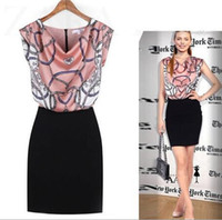 Wholesale Hot Ladies Work Dress - 2017 New Hot fashion dress for Women Office lady Clothing Blue Pink L sizes Free Shipping
