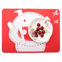 Wholesale Meal Pad - Cartoon pig pattern silicone placemats Food grade silicone western pad Heat insulation anti-skid kid meal pad