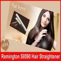 Wholesale Keratin Straightener - New Keratin Therapy Hair Straightener Flat Iron Smart Sensor Styling S8590 1 Inch Ceramic Flat Iron Up to 230C hair styling Tools