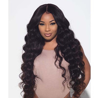 Wholesale Amazing Body Wave Full Lace Front Lace Wigs With Baby Hair Peruvian Human Hair Wavy Wigs Density