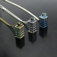 Wholesale Dr House - Vintage Dr. Mysterious Police Box House Pendants & Neckalces Doctor Who Pendant Necklace Halloween Dr. House Jewelry Collar
