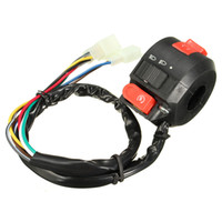 Wholesale Wholesale Chinese Atv - Wholesale- Left Start Kill ON-OFF Switch For Chinese ATV Quad With 22mm Handlebar 8-Wires