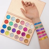 Wholesale Eyeshadow 24 Colors - 2017 Newest Makeup CLEOF Cosmetics 24 color Glitter Eyeshadow Palette Beauty Shimmer Eye Shadow Glitter Eyeshadow DHL shipping