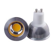 Wholesale Mr16 Down Lights - Dimmable CREE GU10 MR16 E27 GU5.3 cob Led Bulb Light 5W Led Spot Bulbs down lights Lamp AC85-265V 12V