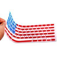 "Wholesale Dustproof Computer Keyboards - Apple Macbook Pro 13.3"" 15.4"" 17"" Computer Keyboard Protective Film US Flag Silicone Color Keyboard Membrane"