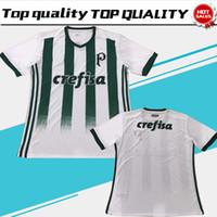 Wholesale Sp Black - 2017 Palmeiras third white Soccer Jersey 17 18 Palmeiras SP away Soccer Shirt Customized football uniform Sales