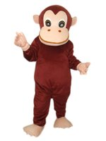 Wholesale Monkey Mascot Head - New Coffee Monkey Mascot Costume For Adults Cartoon Animal Mascots for sale halloween Birthday Party stage outfits with head fan