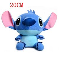 Wholesale Stitch Dolls For Sales - Wholesale-Cute Lilo and Stitch Plush Doll Toys, 20cm Stitch Toys for girls and boys, Hot sale Plush Animals Christmas gifts 2 Color