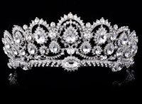 Wholesale Diamonds Headpiece - Hot Selling Bride Wedding Crown Tiara Fashion Luxury Crystal Diamond Headpieces Wedding Hair Accessories Bridal Headband Women Hair Jewelry