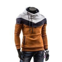 Wholesale Designer Hoodies Wholesale - Wholesale-2016 New Designer Hoodies Men Sweatshirts Slim Fit Hooded Pullover Sportswear Sweatshirt Autumn Male Tracksuits Moleton M-3XL