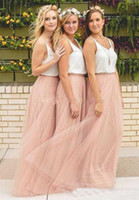 Wholesale Cheap Green Bridesmaids Dresses - 2017 New Cheap tulle bridesmaid dress Women Long Skirt Tutu Elegant Petticoat Casual Tulle Elegant Long Skirt A-line Dresses Without Blouse