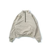 Wholesale Oversized Xxl - Best Version Fear Of God Men Turtleneck Half Zipper Jacket Hiphop Rubber Band Sleeve Bomber Jacket Oversized Fit M-XXL FOG