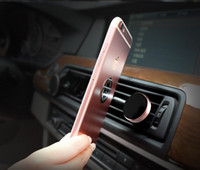 Wholesale car cellphone stands for sale – best Car Magnetic Air Vent Mount Mobile Smart Phone Holder Handfree Dashboard Phone Metal Stand For Cellphone iPhone Samsung S10