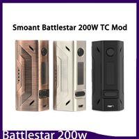 ingrosso il disegno della batteria della scatola del vape-Smoant Battlestar 200W Box Mod New Colors 200 Watt Vape Mod Dual 18650 Batteria 510 Connettore filettato Design compatto 0266132