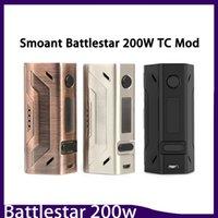 diseño de la batería vape caja al por mayor-Smoant Battlestar 200W Box Mod Nuevos colores 200Watt Vape Mod Dual 18650 Batería 510 Conector de rosca Diseño compacto 0266132