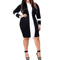 Wholesale Mindi Dresses - 2017newu-neck bandage long sleeve dress women bodycon dress mindi dress