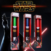 Wholesale Stretch Sound - Star Wars Anakin&Darth Vader Stretch Extendable Lightsaber Toy for Boys Children LED sword Flash Sword Red Blue green 3 Color Sound cosplay