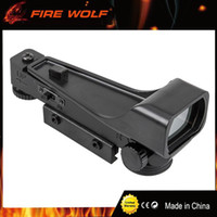 Wholesale Rifle Scope 11mm - FIRE WOLF Tactical 11mm 20mm Holographic 1x22x33 Reflex Red Green Dot Sight Scope ABS Hunting Tactical for Airsoft Rifle Scope